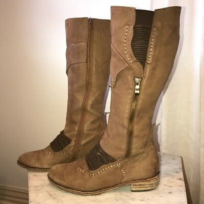 $75 • Buy Anthropologie Leather Boots Everybody By BZ Moda