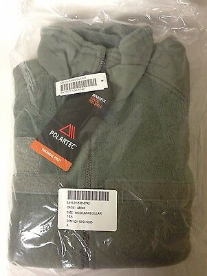 US Military Issue Polartec Thermal Pro L3 Fleece Jacket  Size:Medium Regular NEW • 59.95$