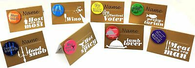 £2.99 • Buy 8 Come Dine With Me Gold Table Name Place Card & Guest Badge Set Decoration