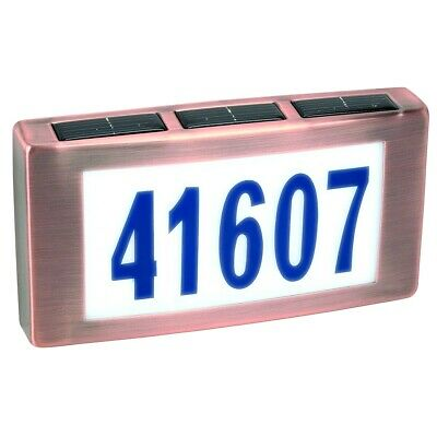 Solar LED Light House Street Address Driveway Numbers Plaque Sign Illuminated • 25.42£