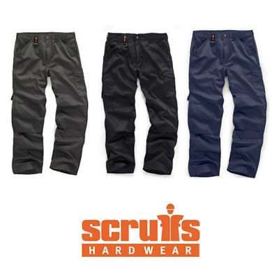 SCRUFFS WORKER GRAPHITE NAVY BLACK MULTI POCKET WORK TROUSERS (All Sizes) TRADE • 16.99£