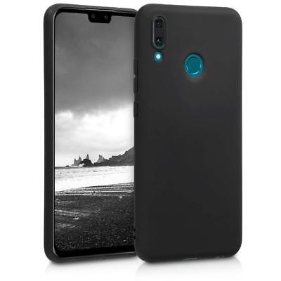 For Huawei Y9 (2019) Case Slim Soft Silicone Gel Cover - Matte Black • 3.49£