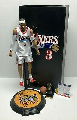 $899.96 • Buy Allen Iverson Signed Philadelphia 76ers Enterbay Action Figure  HOF 2k16  PSA