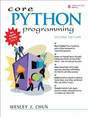 £7.99 • Buy Core Python Programming By Chun, Wesley J Paperback Book The Cheap Fast Free