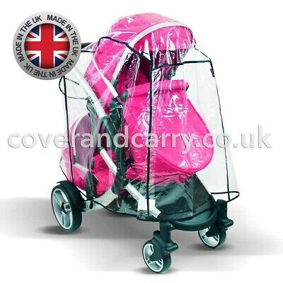 Raincover For The Britax B-Dual Tandem, Made In The UK, Supersoft Clear PVC • 22.99£