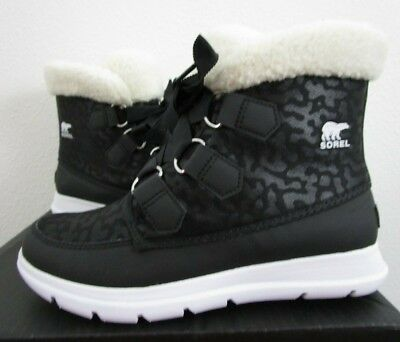 ac402d98752a Womens 7.5 Sorel Explorer Carnival Fashion Insulated Waterproof Winter Boots  BLK • 65.97