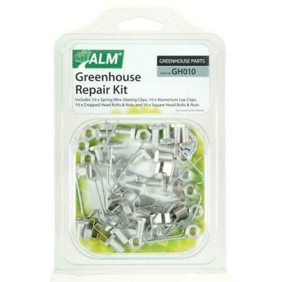 Greenhouse Repair Kit W / Z Clips Square Nuts Bolts Fixing Spares Parts 10x ALM • 6.92£