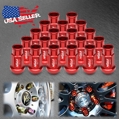 $19.88 • Buy Red 20 PCS M12x1.25 Short Lug Nuts For Nissan Rouge Altima 370z 350z WN01
