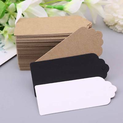 100pcs Brown Kraft Tags Paper Gift Wedding Scallop Label Blank Luggage Tag • 2.31£