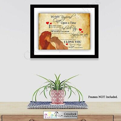 Lion King Valentines Love Typography Romance Photo Poster Print ONLY Wall Art A4 • 3.75£