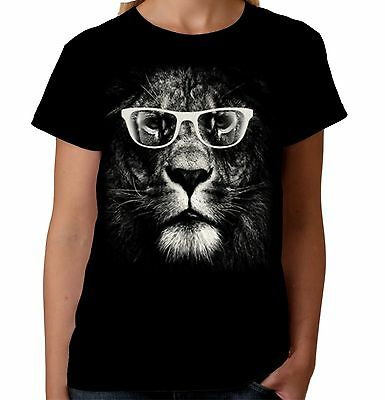 £10.25 • Buy Velocitee Ladies T-Shirt Cool Lion Big Animal Face Feline Fashion Cat A19404