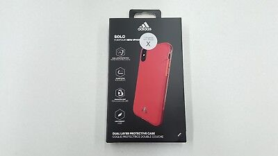 AU6.02 • Buy Genuine Adidas Solo Dual Layer Protective Case For IPhone X/ IPhone XS Red New