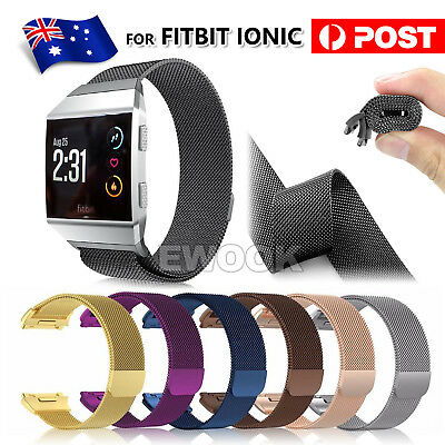 AU9.85 • Buy Milanese Loop Mesh Wrist Watch Band For Fitbit Ionic Stainless Steel Metal Strap