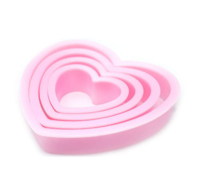 Heart Cookie Cutter Shape Cake Pastry Biscuit Sugarcraft Bake Mould 4 Pcs Set • 3.95£