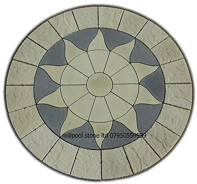 £240 • Buy 2.56m Sun Circle Paving Slabs Stones Patio Garden Flags (delivery  Exceptions)