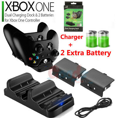 $20.99 • Buy For XBOX ONE Dual Charging Dock Station Controller Charger+ Rechargeable Battery