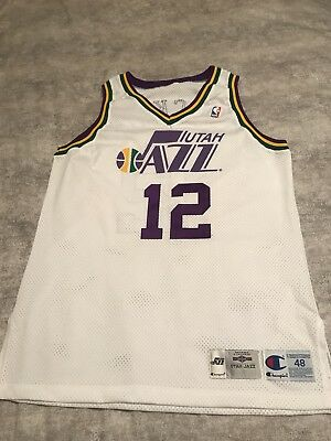 new photos aa1ce 34fc6 closeout image of vintage utah jazz 3 bryon russell nba ...