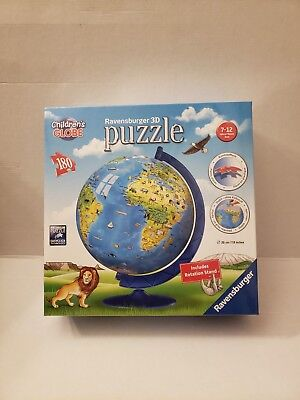 $29.99 • Buy Ravensburger Childrens World Globe 3d Puzzle 180 Pc Brand New