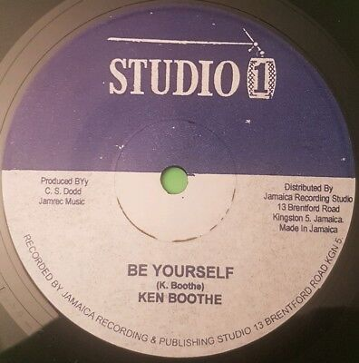 Studio One .be Yourself / Rahtid Ken Booth. Sound Dimension 7  • 11.95£