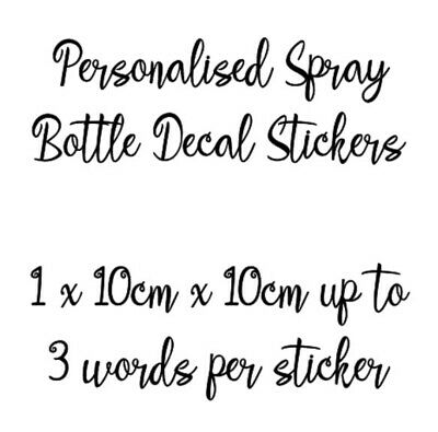 Personalised Spray Bottle Decal Stickers Zoflora Mrs Hinch Cleaning • 1.99£