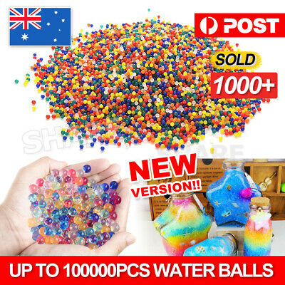 AU5.95 • Buy 50000pcs Crystal Water Balls Jelly Gel Beads For Vases Orbeez MultiColor AU