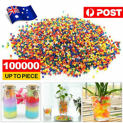 AU4.95 • Buy 100000pcs Crystal Water Balls Jelly Gel Beads For Vases Orbeez MultiColor AU