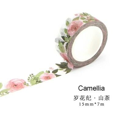AU2.70 • Buy Japan Washi Tape Camellia 15mmx7m  MT0833