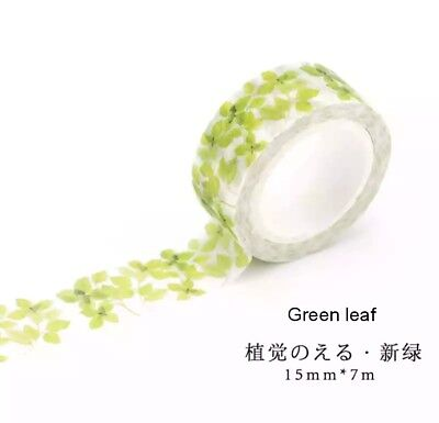 AU2.80 • Buy Japan Washi Tape Green Leaves 15mmx7m  MT0836