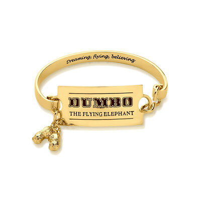 £39 • Buy Disney Couture Kingdom Gold-Plated Flying Elephant Ticket Bangle