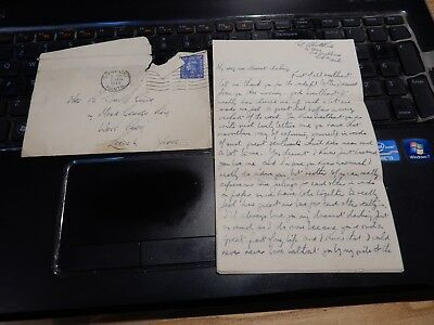 Lovers Letter Ww2 From  Submariner  A Heartbreaker  Missing You ! • 29.99£