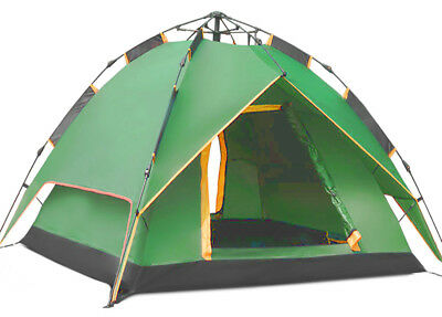 AU79.14 • Buy Instant Automatic Pop Up Backpacking Camping Hiking 4 Man Tent