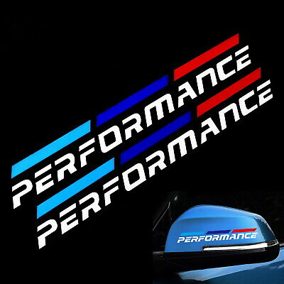 $9.49 • Buy Iconic M-Sport Tri-Color Stripe W/White Performance Letter Decal Sticker For BMW
