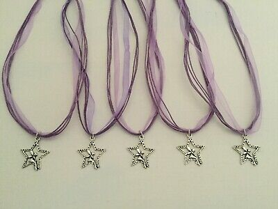 £4.99 • Buy 5 X Fairy In A Star Charm Necklaces, CHOOSE COLOUR, Party Bag Filler, Tinkerbell