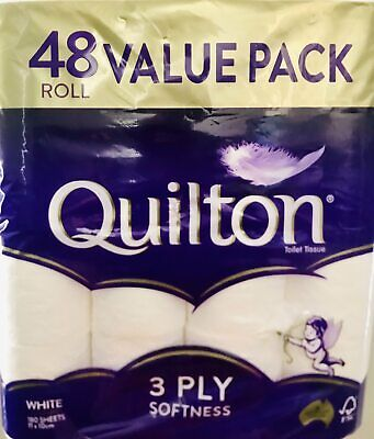 AU22.99 • Buy Quilton Toilet Paper Tissue Rolls Soft Sanitary 3 Ply 180 Sheets 6/12/18/24/36
