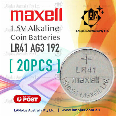 AU9.59 • Buy Maxell 20X AG3 1.5V LR41 G3A L736 392 RW87 GP192 Alkaline Button Coin Battery