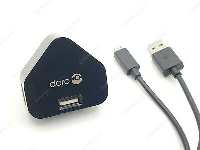 Genuine Doro Mains Wall Charger + Micro Usb Cable For 622 409 410 605 610 611 • 2.30£
