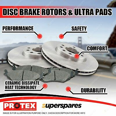 AU200.95 • Buy Protex Front Brake Rotors + Ultra Pads For Nissan Maxima J30 1990-1994