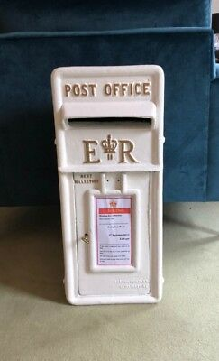 £150 • Buy E R Royal Mail Post Box, Letter Box, White, Wedding And Venue Use, For Sale