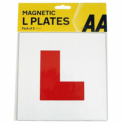 2 X Genuine AA Fully Magnetic Exterior Car Bike New Learner L Plates Secure Safe • 2.99£