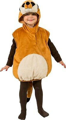 Boys Girls Meerkat Animal Zoo Wild Book Day Carnival Fancy Dress Costume Outfit • 18.99£