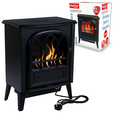 Electrical Fireplace 1.8KW Fire Wood Flame Heater Stove Living Room Burner 1800W • 69.99£