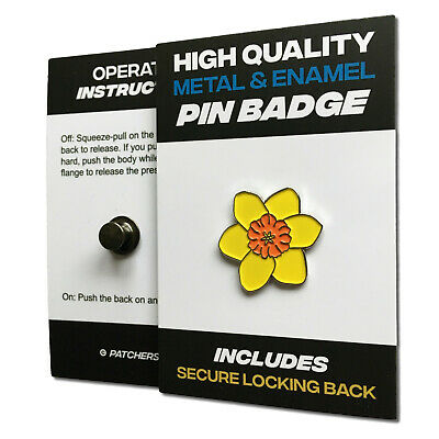 £3.75 • Buy Yellow Daffodil High Quality Metal & Enamel Pin Badge With Secure Locking Back