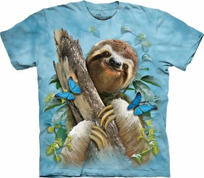 £26.99 • Buy SLOTH AND BUTTERFLIES The Mountain T Shirt Wildlife Unisex