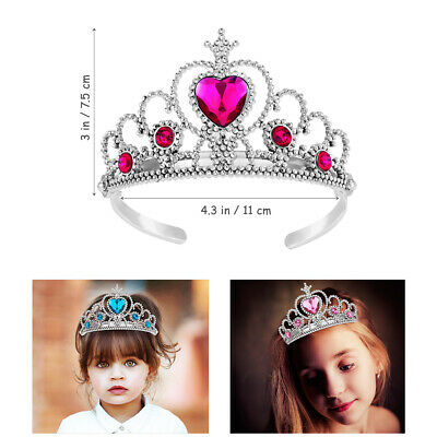 5Pc Kids Princess Party Set Girls Favors Decoration Tiara Dress Up Play • 4.19£