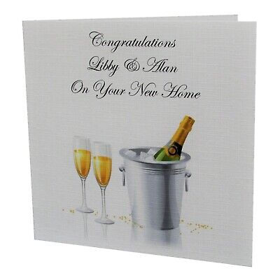 Handmade PERSONALISED NEW HOME House Warming Greetings Card • 1.95£