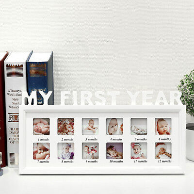 £9.59 • Buy My First Year Photo Picture Frame Baby Birthday Gift Anniversary Gifts