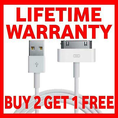Genuine Charging Cable Charger Lead For Apple IPhone 4,4S,3GS,iPod,iPad2&1 • 1.99£