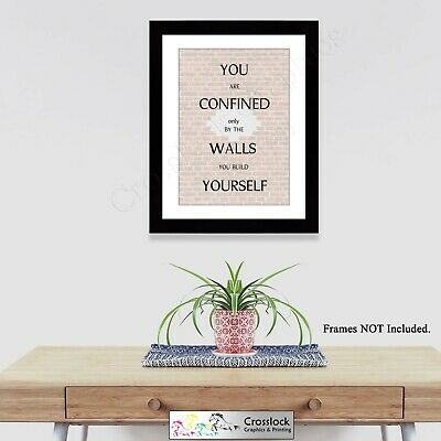 Motivational Life Quotes Typography A4 Photo Poster Print ONLY Wall Art  • 3.75£