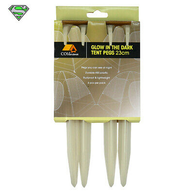 AU11.99 • Buy Glow In The Dark Tent Pegs X 4 (Camping, 4WD, Travel)