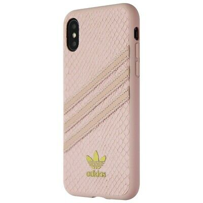 AU13.31 • Buy Adidas 3-Stripes Snap Case For Apple IPhone XS And X - Pink Snake / Gold